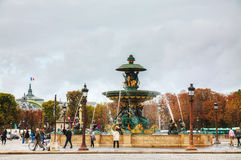 Place de la Concorde in Paris, France Royalty Free Stock Photo