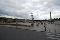 Place de la Concorde, sky, town square, landmark, public space. Place de la Concorde is sky, public space and city. That marvel has town square, cloud and plaza royalty free stock photography
