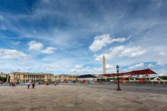 Place de la Concorde on Summer Day in Paris. France Stock Photo