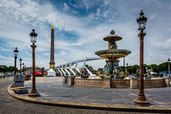 Place de la Concorde on Summer Day in Paris Stock Image