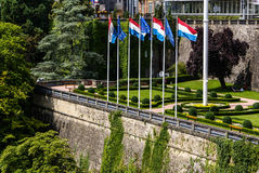 Place de la Constitution in the City of Luxembourg Royalty Free Stock Image