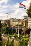 Place de la Constitution en la ciudad de Luxemburgo Fotografía de archivo libre de regalías
