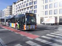 Place de la Gare大道在卢森堡市 免版税库存照片