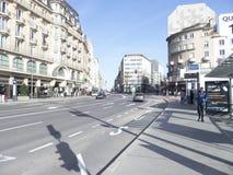 Place de la Gare avenue in Luxembourg city Stock Photos