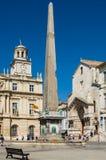 Place de la Republique em Arles, França Fotografia de Stock