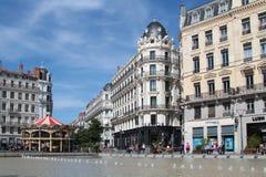 Place de la Republique in Lyon Stock Image
