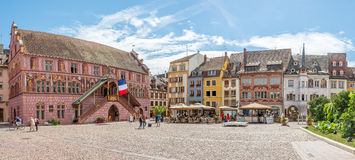 At the Place de la Reunion in Mulhouse. Royalty Free Stock Image