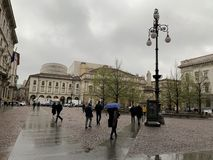 Place de La Scala en Milan Italy photos libres de droits