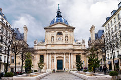 Het Vierkant van Sorbonne in Parijs Stock Foto