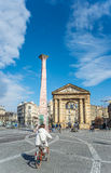 Place de la Victoire in Bordeaux, France Royalty Free Stock Images