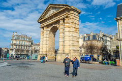 Place de la Victoire in Bordeaux, France Royalty Free Stock Image