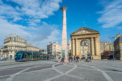Place de la Victoire in Bordeaux, France Royalty Free Stock Photography