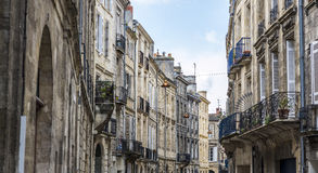 Place de la Victoire in Bordeaux, France. Typical street of Bordeaux, Aquitaine. France stock photo