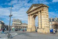Place de la Victoire im Bordeaux, Frankreich Stockbild