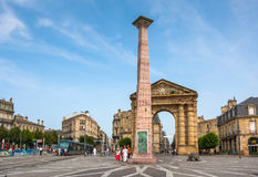 Place de la Victoire near Porte d'Aquitaine in Bordeaux Royalty Free Stock Photography