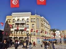 The Place de la Victoire in Tunis, Tunisia. Royalty Free Stock Photo