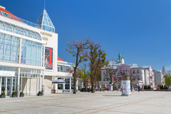 Place de la vieille ville dans Sopot, Pologne Photo stock