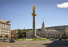 Place de liberté à Tbilisi georgia image stock