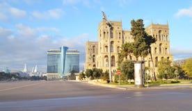 Place de liberté à Bakou Photographie stock libre de droits