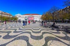 Place de Lisbonne, Portugal Rossio Photos libres de droits