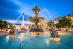 Place de Lisbonne, Portugal Rossio images stock