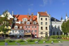 Place de Livu dans la vieille ville de Riga, Lettonie Photos libres de droits