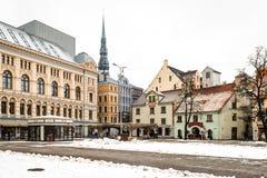 Place de Livu Laukums, vieux Riga, Lettonie Photographie stock libre de droits