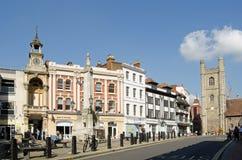 Place de Market Place, lecture, Berkshire Photographie stock