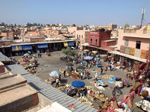 Place de Marrakech Images libres de droits
