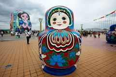 Place de Matryoshka Photos libres de droits