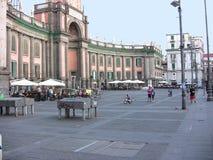 Place 2 de Naples Dante images libres de droits