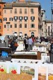 Place de Navona à Rome Images libres de droits