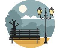 Place de nuit Images libres de droits