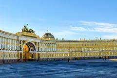 Place de palais à St Petersburg, Russie Photographie stock libre de droits