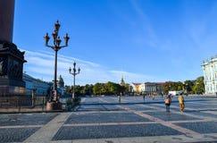 Place de palais à St Petersburg, Russie Images stock