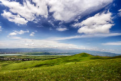 Place de parapentisme près de mer de Tbilisi, la Géorgie Photo libre de droits