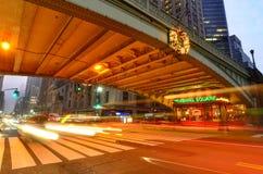 Place de Pershing avec le viaduc de Park Avenue image libre de droits