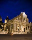 Place de Piazza Duomo, cathédrale de Santa Agatha, Catane, Sicile, photographie stock libre de droits