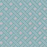 Place de plaid colorée antique de rectangle de rétro vintage abstrait Mesh Cell Seamless Pattern Photographie stock