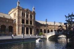 Place de Plaza de Espana Espagne dans le Parque De Mara Luisa, Séville, Espagne, 2013 photographie stock