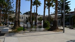 Place de préfecture de Rethymno banque de vidéos