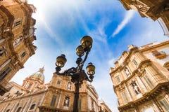 Place de Quattro Canti Vigliena à Palerme, Sicile Photographie stock
