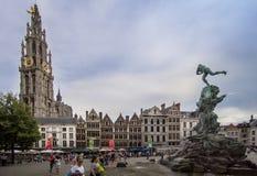 Place de quintal d'Antwerpen, Belgique Photographie stock