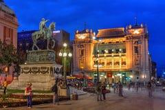 Place de République, Belgrade, Serbie Images libres de droits