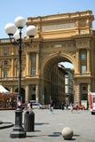 Place de République en Florence Italy Image libre de droits