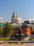 Place de révolution à Moscou, Russie Photographie stock