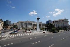 Place de révolution, voiture, zone métropolitaine, ciel, point de repère Photos stock