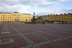 Place de sénat le soir de septembre, Helsinki images stock