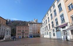 Place de Saint Jean, Lyon francia Fotos de archivo libres de regalías