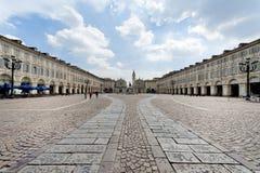 Place de San Carlo, Turin, Italie Image stock